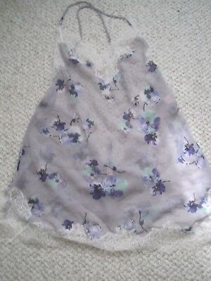 Victoria's Secret Purple Floral Sheer Teddy Size S