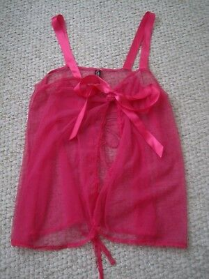 Nwot Victoria's Secret Sheer With Butterfly Teddy Size M