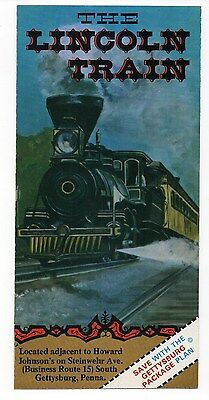 The Lincoln Train, South Gettysburg, Pennsylvania, Vintage Travel Brochure, Aug