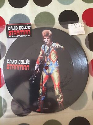 David Bowie Starman Single Picture Disc.  Mint condition - unopened