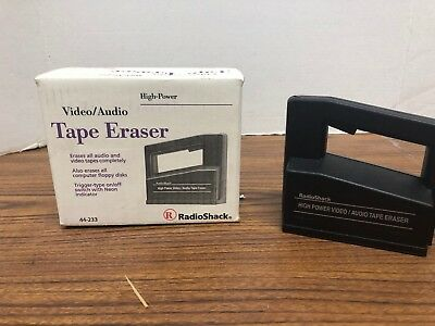Realistic High Power Video/Audio Tape Eraser, Radio Shack Cat. No. 44-233A