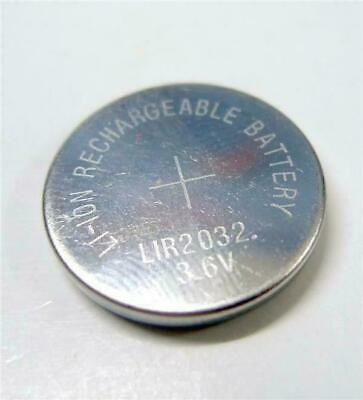 1 x 3.6V LiR2032 Rechargeable Cell Battery Coin Button Li-ion replace CR2032 UK