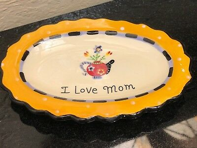 Vintage I Love Mom Soap Vanity Trinket Dish