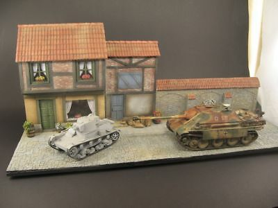 Huge diorama base - old city,  1:35 scale,  built and painted