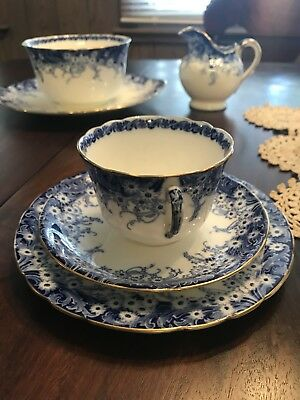 """Rare"" Royal Doulton Burslem Tea Cup And Plate 1890's Early 1900's"
