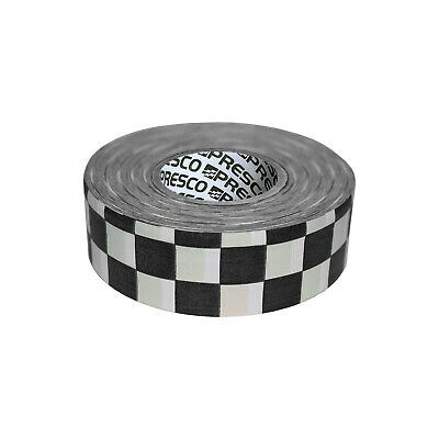 Presco Checkerboard Patterned Roll Flagging Tape: 1-3/16 in. x 300 ft. (White/Bl
