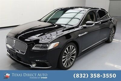 Lincoln Continental Reserve Texas Direct Auto 2017 Reserve Used Turbo 2.7L V6 24V Automatic FWD Sedan