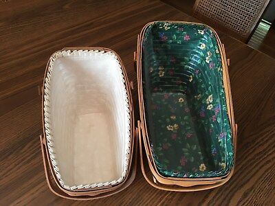 Longaberger Vegetable Baskets - Lot of 2 - Large and Medium