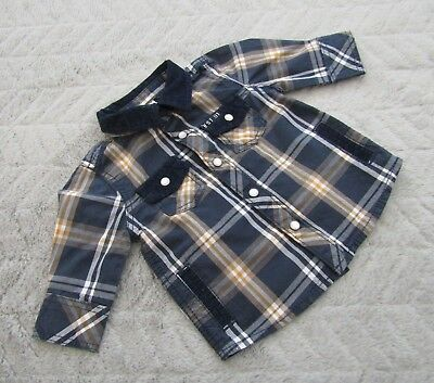 Baby Boys 100% Cotton Long Sleeve Checked Shirt (0-1 Month)