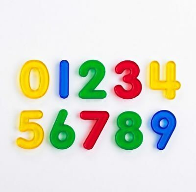 Transparent Colourful Plastic numbers  0-9 Math Resource and light table fun