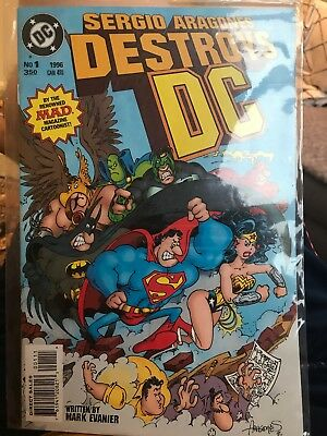 SERGIO ARAGONES DESTROYS DC # 1 (1996) DC Comics NM Condition