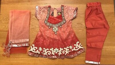 Girls Indian Dress Outfit. Size 16. Perfect For Diwali! Brand New.