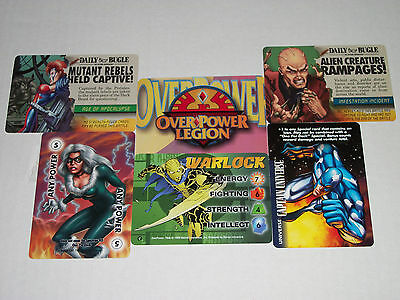 Lot Of 6 Different Marvel Overpower Promo Cards - Events, Power, Legion, Warlock