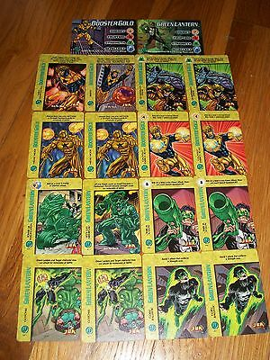 Booster Gold & Green Lantern Jla Complete Overpower Sets 2 Hero & 16 Specials
