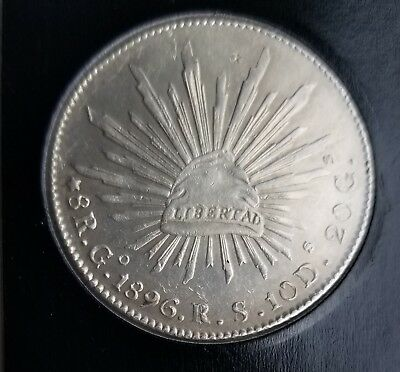 1896 Go RS Mexico Silver 8 Reales