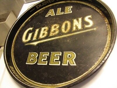 Gibbons beer/ale RARE beer tray 1940's Wilkes Barre PA