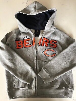 Boys Chicago Bears Zip Hoodie Size Small