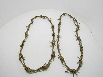 2 Leather barbed wire necklaces..... Gold colored...., 275  bracelet.....hat ban