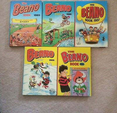 THE BEANO BOOK , COMIC Collection From 1985 Till 1989