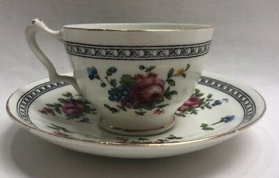 Crown Staffordshire England Bone Chine Tea Cup And Saucer