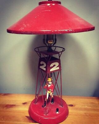 Vintage JOHNNIE WALKER RED BUOY #2 LAMP & SHADE - Scotch Whisky Advertising
