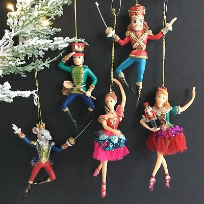 Nutcracker Ballet Figure Hanging Christmas Tree Decoration Gisela Graham