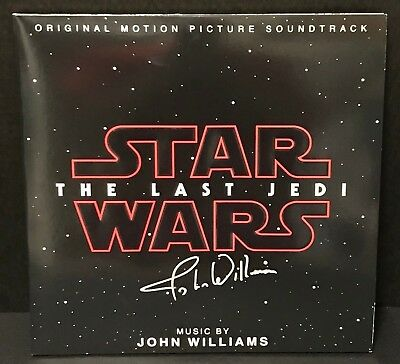 Star Wars: The Last Jedi Vinyl Soundtrack Signed by John Williams
