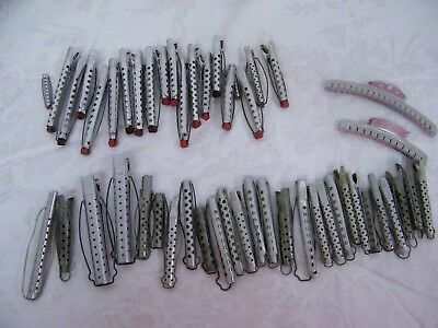 Vintage Goody Solo Hollywood Tip- Top Aluminum Hair Clips 49 Piece Assortment