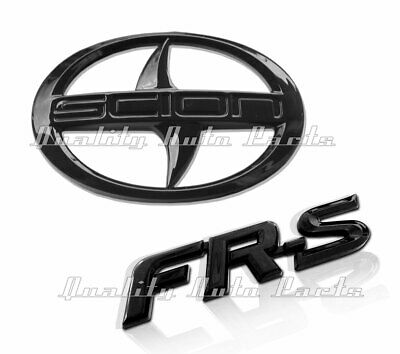 1 - BRAND NEW SCION FR-S Rear Black Badge Emblem (MATTE BLACK FRS BADGE)