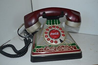 Coca Coke Cola Coke Phone Telephone Stained Glass Style Light up