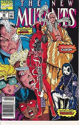 The New Mutants #98,1991 VF+ WH, First Deadpool, Gideon, Domino