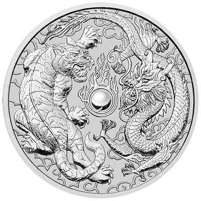 Mint Roll of 20 x 2018 Australia 1 oz Perth .9999 Silver Dragon & Tiger