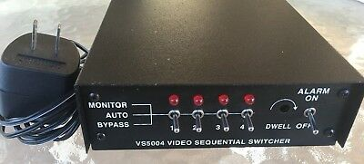 Pelco 4 Channel Analog Sequential Video Switch-Dual Monitor Outputs-Vs5004
