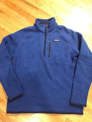 Patagonia Mens Better Sweater 14 Zip Fleece Size M Blue 4300