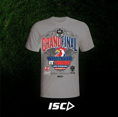 Sydney Roosters NRL 2018 Grand Final T Shirt Sizes S-3XL & Kids sizes!