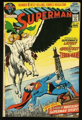 1972 Dc Comics Superman Terra-Man #249 Neal Adams Cover 52-Pages
