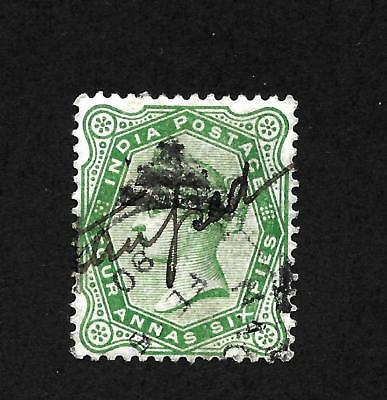 Hick Girl Stamp -Used India Stamp Sc#43 Queen Victoria, Issue 1882        X-15