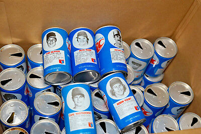 59 RC Cola MLB Steel Cans From the 1970s **WATCH VIDEO IN DESCRIPTION**