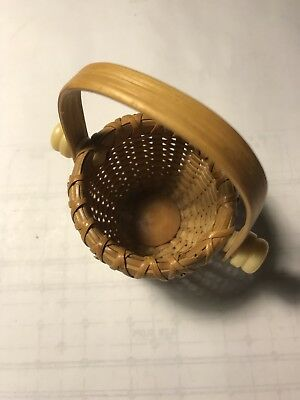 Very Small Nantucket Basket, Excellent Condition.