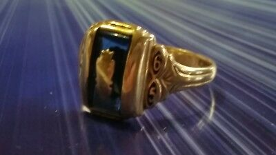 Herff Jones Class Ring 10Kt Yellow Gold Vintage 1965