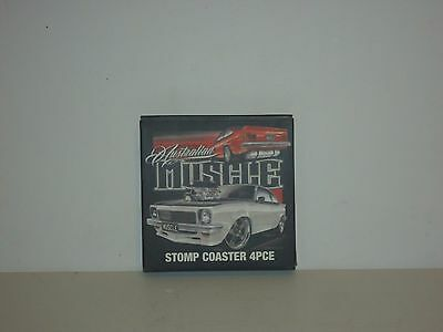 JY7213 Collectable Australian Muscle Stomp Coaster Set of 4