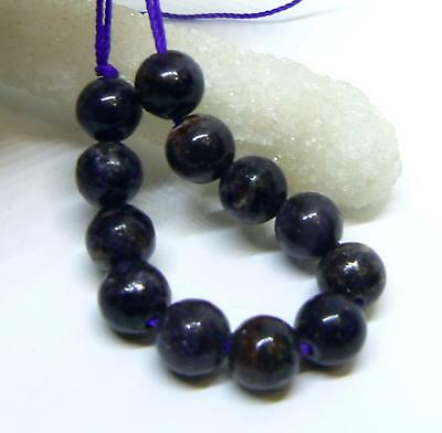 12 AFRICAN PURPLE SUGILITE ROUND BEADS 8mm 50cts NATURAL UNTREATED GEMSTONE