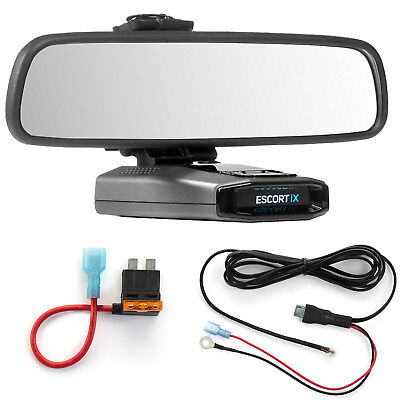 Mirror Mount  + Direct Wire Power Cord + ATO Fuse Tap Escort IX EX Max360C