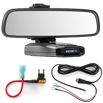 Mirror Mount  + Direct Wire Power Cord + Mini Fuse Tap Escort IX EX Max360C