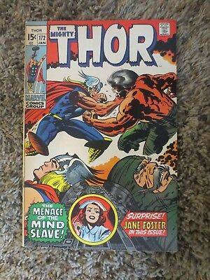 the mighty thor #172 (jan 1970 marvel) bronze age jack kirby stan lee F/VF