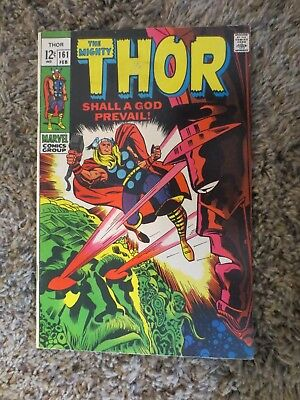 the mighty thor #161 (feb 1969 marvel) silver age galactus ego lee and kirby F