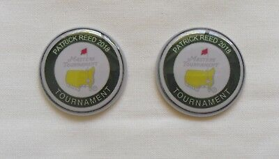 2 Only U.S. MASTERS 2018 PATRICK REED  GOLF BALL MARKERS A Tribute to his Win