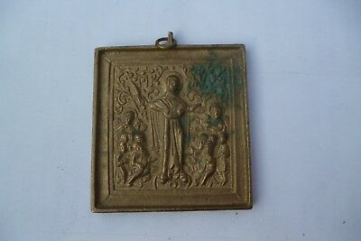 Rare old Russian Imperial bronze icon  end of 19th – beginning of 20t