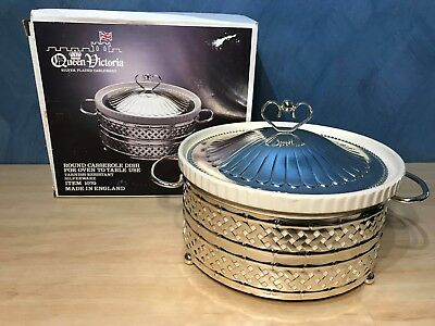 Antique Queen Victoria Silver Plated Tableware Casserole Dish Made in England
