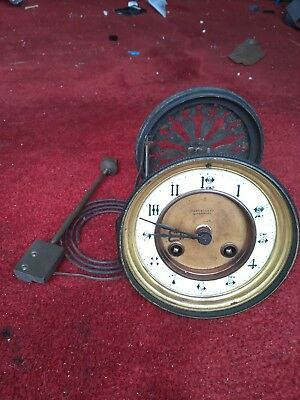 Thomas russell French mantel clock movement with dial for repair or parts.